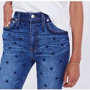 🆕 Madewell Embellished Slim Bot Jean